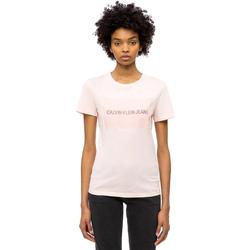 Υφασμάτινα Γυναίκα T-shirt με κοντά μανίκια Calvin Klein Jeans J20J208606 Ροζ