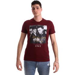 Υφασμάτινα Άνδρας T-shirt με κοντά μανίκια Gaudi 921BU64003 το κόκκινο