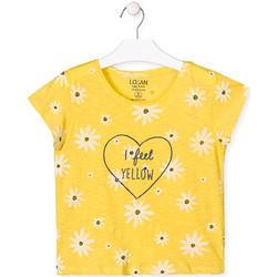Υφασμάτινα Κορίτσι T-shirt με κοντά μανίκια Losan 014-1013AL Κίτρινος