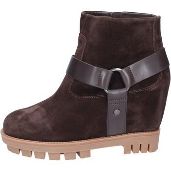Παπούτσια Γυναίκα Μποτίνια Hogan Μπότες αστραγάλου BK694 καφέ