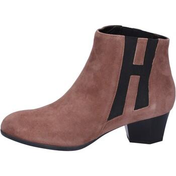 Παπούτσια Γυναίκα Μποτίνια Hogan Μπότες αστραγάλου BK699 καφέ