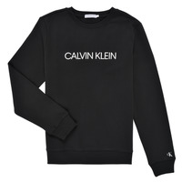 Υφασμάτινα Παιδί Φούτερ Calvin Klein Jeans INSTITUTIONAL LOGO SWEATSHIRT Black