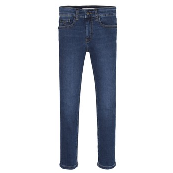 Υφασμάτινα Αγόρι Skinny jeans Calvin Klein Jeans ESSENTIAL ROYAL BLUE STRETCH Μπλέ