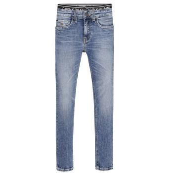 Υφασμάτινα Αγόρι Skinny jeans Calvin Klein Jeans SKINNY VINTAGE LIGHT BLUE Μπλέ