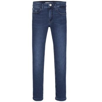 Υφασμάτινα Κορίτσι Skinny jeans Calvin Klein Jeans SKINNY ESS ROYAL BLUE Μπλέ