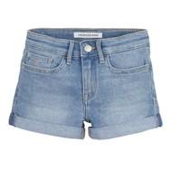 Υφασμάτινα Κορίτσι Σόρτς / Βερμούδες Calvin Klein Jeans SLIM SHORT ESS Μπλέ