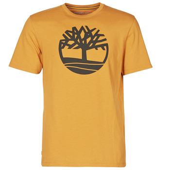 Υφασμάτινα Άνδρας T-shirt με κοντά μανίκια Timberland SS KENNEBEC RIVER BRAND TREE TEE Camel