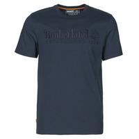 Υφασμάτινα Άνδρας T-shirt με κοντά μανίκια Timberland SS OUTDOOR HERITAGE LINEAR LOGO TEE REGULAR Marine