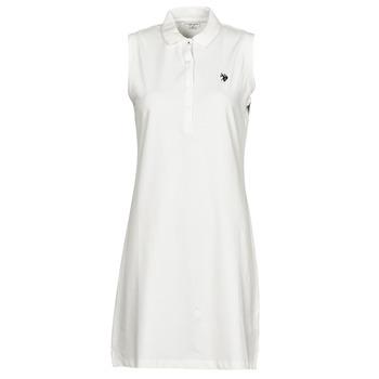 Υφασμάτινα Γυναίκα Κοντά Φορέματα U.S Polo Assn. AMY DRESS POLO SLEEVELESS Άσπρο