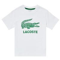Υφασμάτινα Αγόρι T-shirt με κοντά μανίκια Lacoste TJ1965-001 Άσπρο