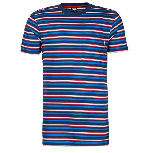 Υφασμάτινα Άνδρας T-shirt με κοντά μανίκια Urban Classics TB4136 Μπλέ / Red / Άσπρο