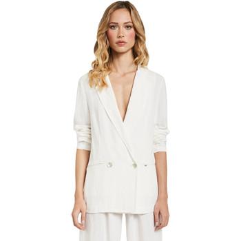 Υφασμάτινα Γυναίκα Σακάκι / Blazers Gaudi 011FD35012 λευκό
