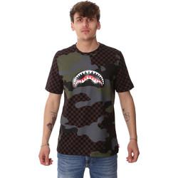 Υφασμάτινα Άνδρας T-shirt με κοντά μανίκια Sprayground SP01820BRO καφέ