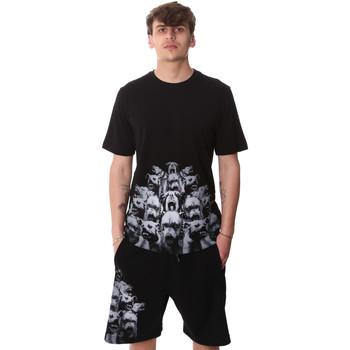 Υφασμάτινα Άνδρας T-shirt με κοντά μανίκια Sprayground 20SP012 Μαύρος