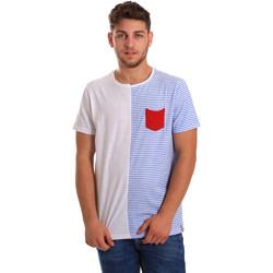 Υφασμάτινα Άνδρας T-shirt με κοντά μανίκια Gaudi 811FU64046 λευκό