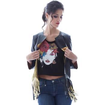 Υφασμάτινα Γυναίκα Σακάκι / Blazers Grace Shoes DF131 Μαύρος