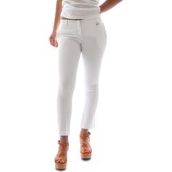 Υφασμάτινα Γυναίκα Παντελόνια Chino/Carrot Animagemella 16PE003 λευκό