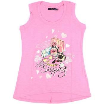 Υφασμάτινα Γυναίκα Αμάνικα / T-shirts χωρίς μανίκια Key Up S88Z 0001 Ροζ