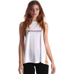 Υφασμάτινα Γυναίκα Αμάνικα / T-shirts χωρίς μανίκια Tommy Hilfiger S10S100429 λευκό