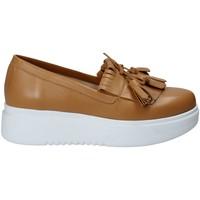 Παπούτσια Γυναίκα Slip on Exton E01 καφέ