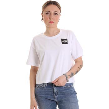 Υφασμάτινα Γυναίκα T-shirt με κοντά μανίκια The North Face NF0A4SY9FN41 λευκό