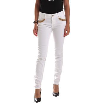 Υφασμάτινα Γυναίκα Παντελόνια Chino/Carrot Gaudi 911BD26030 λευκό
