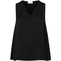 Υφασμάτινα Γυναίκα Μπλούζες Calvin Klein Jeans FLARE V-NK TOP, BDS Nero