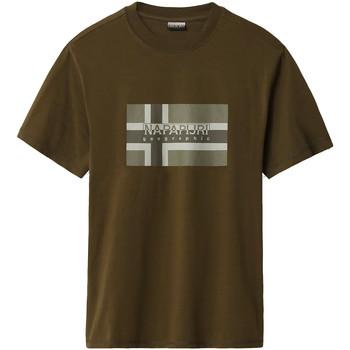 Υφασμάτινα Άνδρας T-shirt με κοντά μανίκια Napapijri NP0A4E38 Πράσινος