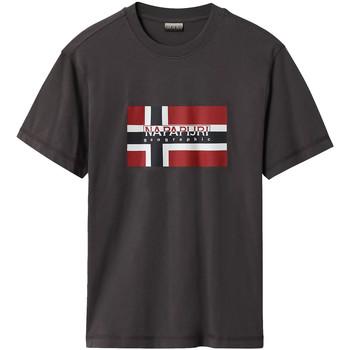 Υφασμάτινα Άνδρας T-shirt με κοντά μανίκια Napapijri NP0A4E38 Γκρί