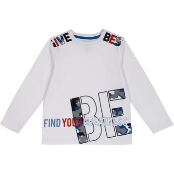 Υφασμάτινα Παιδί Μπλουζάκια με μακριά μανίκια Chicco 09006867000000 λευκό