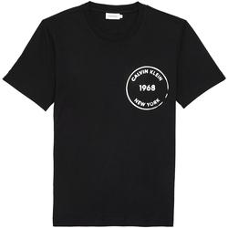 Υφασμάτινα Άνδρας T-shirt με κοντά μανίκια Calvin Klein Jeans K10K104509 Μαύρος