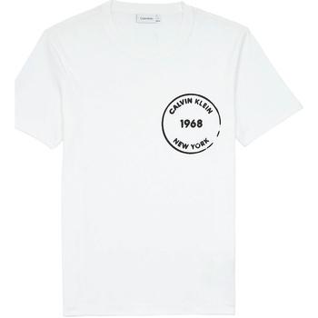 Υφασμάτινα Άνδρας T-shirt με κοντά μανίκια Calvin Klein Jeans K10K104509 λευκό