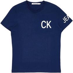 Υφασμάτινα Άνδρας T-shirt με κοντά μανίκια Calvin Klein Jeans J30J312754 Μπλε