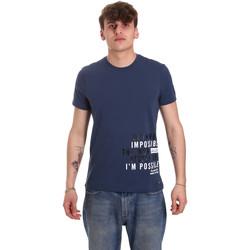 Υφασμάτινα Άνδρας T-shirt με κοντά μανίκια Gaudi 011BU64071 Μπλε
