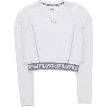 Υφασμάτινα Γυναίκα Μπλουζάκια με μακριά μανίκια Fila 687720 λευκό