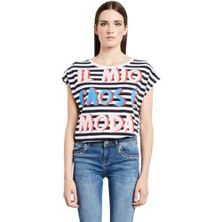 Υφασμάτινα Γυναίκα T-shirt με κοντά μανίκια Denny Rose 011ND64017 λευκό