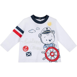 Υφασμάτινα Παιδί Μπλουζάκια με μακριά μανίκια Chicco 09006877000000 λευκό