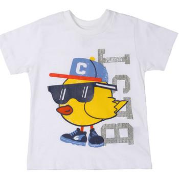Υφασμάτινα Παιδί T-shirt με κοντά μανίκια Chicco 09006918000000 λευκό