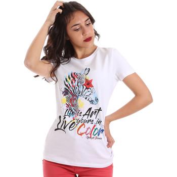 Υφασμάτινα Γυναίκα T-shirt με κοντά μανίκια Gaudi 011BD64003 λευκό