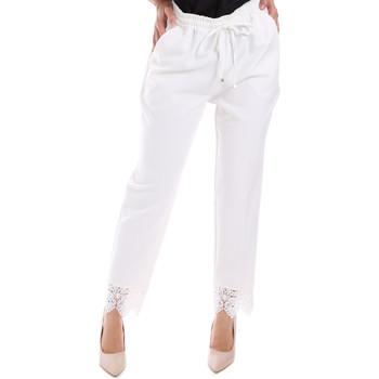 Υφασμάτινα Γυναίκα Παντελόνια Chino/Carrot Gaudi 011FD25011 λευκό