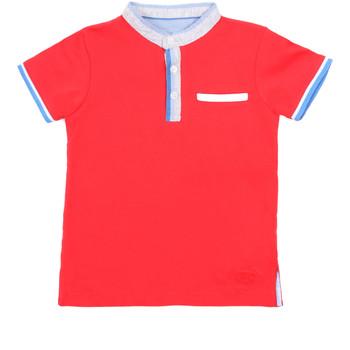 Υφασμάτινα Παιδί Πόλο με κοντά μανίκια  Losan 015-1791AL το κόκκινο