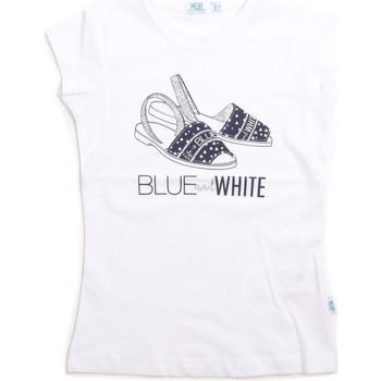 Υφασμάτινα Παιδί Αμάνικα / T-shirts χωρίς μανίκια Melby 70E5645 λευκό