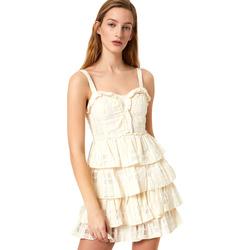 Υφασμάτινα Γυναίκα Κοντά Φορέματα Liu Jo FA0312 T4190 λευκό