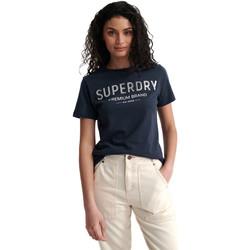 Υφασμάτινα Γυναίκα T-shirt με κοντά μανίκια Superdry W1010006A Μπλε