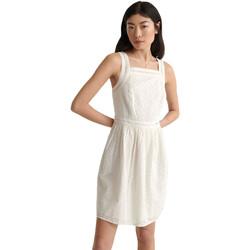 Υφασμάτινα Γυναίκα Κοντά Φορέματα Superdry W8010090A λευκό