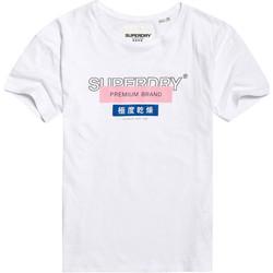 Υφασμάτινα Γυναίκα T-shirt με κοντά μανίκια Superdry G10305YU λευκό