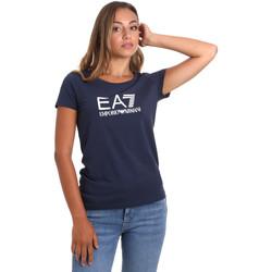 Υφασμάτινα Γυναίκα T-shirt με κοντά μανίκια Ea7 Emporio Armani 8NTT63 TJ12Z Μπλε