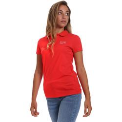 Υφασμάτινα Γυναίκα Πόλο με κοντά μανίκια  Ea7 Emporio Armani 3HTF57 TJ29Z το κόκκινο