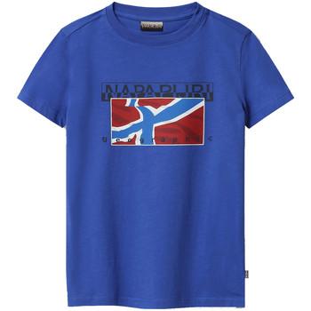Υφασμάτινα Παιδί T-shirt με κοντά μανίκια Napapijri NP0A4E52 Μπλε