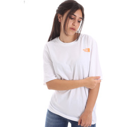 Υφασμάτινα Γυναίκα T-shirt με κοντά μανίκια The North Face NF0A4M5QP9V1 λευκό